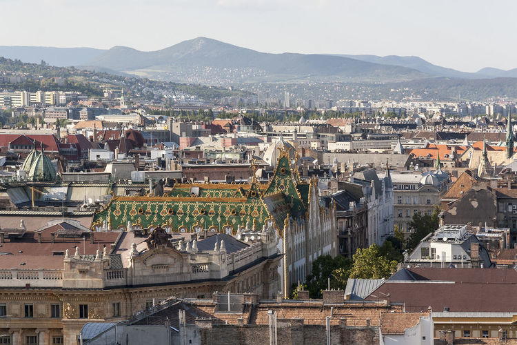 Budapest 12 Architecture City Cityscape Historical Building Panoramic View Roof Tourist Attraction  Urban Exploration Urbanscape Building Exterior Day High Angle View Idyllic City Mountain No People Outdoors Sunny Day Tourism Travel Destinations