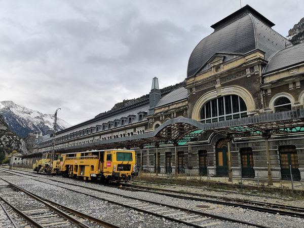 Canfranc Railway Station Railway Canfrancinternationalstation Canfranc Estacion City Railroad Track Rail Transportation Railroad Station Platform Locomotive Railroad Station Train Transportation Building - Type Of Building