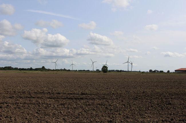 Alternative Energy Cloud - Sky Day Field Landscape No People Outdoors Renewable Energy Rural Scene Sky Wind Power Wind Turbine Wind Turbines On A Field
