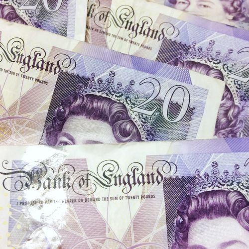British twenty pound banknotes Paper Currency Currency Finance No People Close-up Text Wealth Crumpled Savings Day £20 Twenty Pound Note