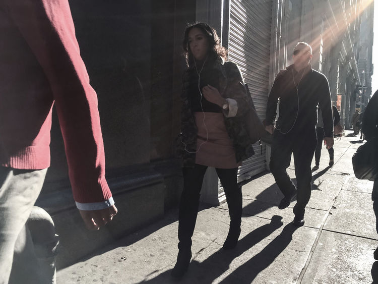 Early Morning Commute Autum2015 Chelsea Manhattan NYC People Sunlight Streetphotography Timyoungiphoneography