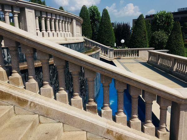 Stairs Built Structure Architecture Building Exterior Tree Plant Railing Nature Day No People Building City Sunlight The Past History Sky Balustrade Staircase Outdoors Architectural Column