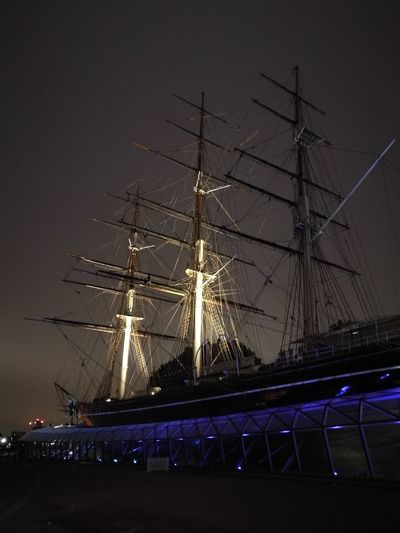 Cutty Sark Photography Low Light Place Of History Historic Historic Ship British History City Illuminated Arts Culture And Entertainment Celebration Sky