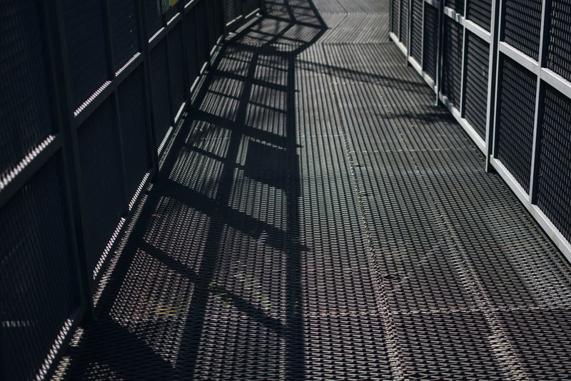 Architecture Building Building Exterior Built Structure Empty Full Frame High Angle View Metal Nature No People Outdoors Pattern Railing Shadow Staircase Steps And Staircases Sunlight The Way Forward