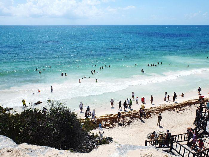 The beach at