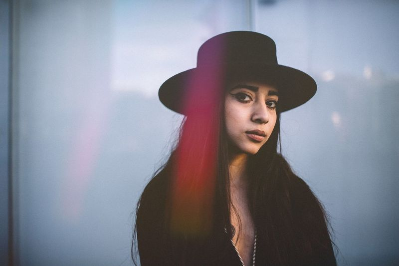 Hat Portrait Young Women Adult Young Adult Beautiful People Outdoors Day