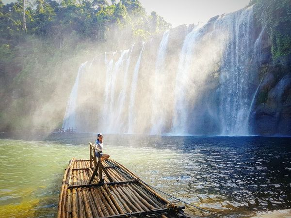 I am happy ❤ Nature Photography Summer Philippines Explore Wonderful Summer Exploratorium Friendship Water Waterfall Spraying Men Motion Sky Crashing Power In Nature Force Flowing Water Wave Splashing