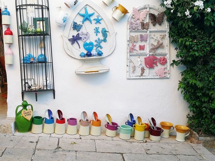 Large Group Of Objects Abundance For Sale Choice Variation Day Multi Colored No People Outdoors Alberobello - Puglia Alberobello Puglia, Italy Italy🇮🇹 Puglia South Italy