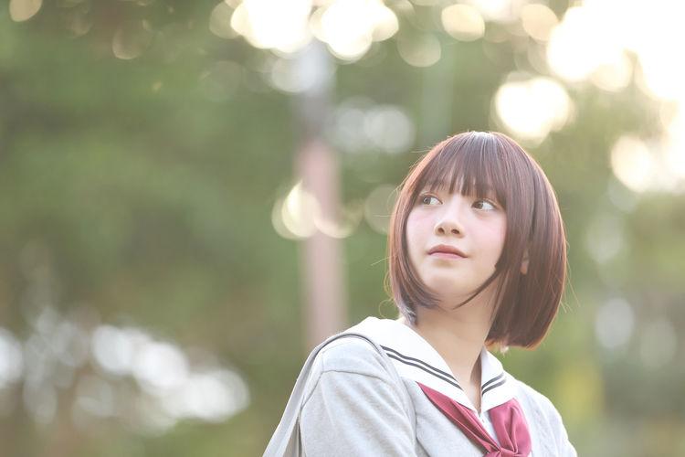 Beautiful Young Woman In School Uniform