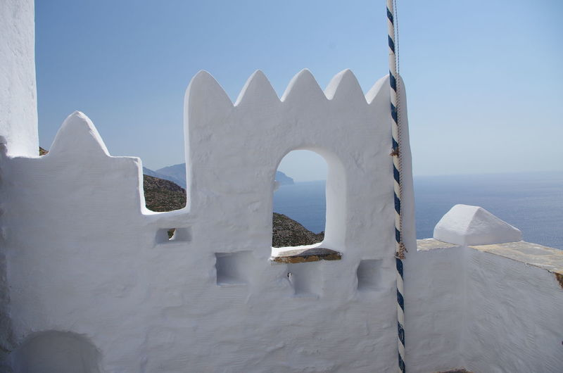 GREECE ♥♥ Griechenland Griechische Inseln Amorgos Amorgosisland Architecture Built Structure Clear Sky Close-up Day Greece Horizon Over Water Nature No People Outdoors Sea Sky Water White Color Whitewashed