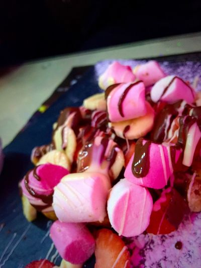 Mashmallow ChocolateSauce Dessert Porn Delicious ♡ Dessert Time! Dessertphotography Mysweettreat Desert Bananas Sugar Rush