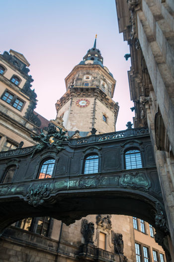 Dresden Castle Dresden Dresden / Germany Dresden Germany Dresden Castle Architecture Belief Building Building Exterior Built Structure City Clear Sky Clock Day History Low Angle View Nature No People Outdoors Place Of Worship Religion Sky Spirituality The Past Tower Travel Destinations