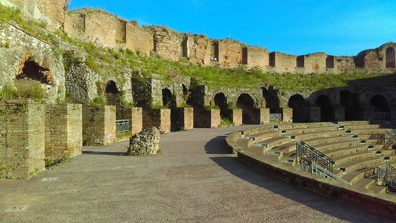 Italy Vacation Italy Ruins Theatre Ancient Ruins Italytrip No People Scenics Day Sky Built Structure Building Exterior Architecture
