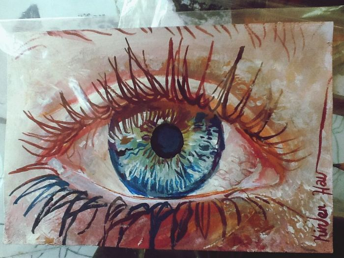 Her eye... Art Drawing Painting Watercolor