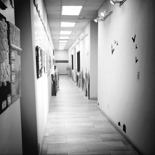 Taking Photos Black & White Hallway