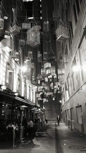 Alley in city