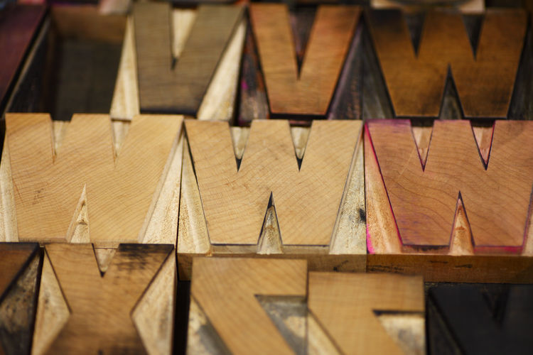 Close-Up Of Wooden Letters
