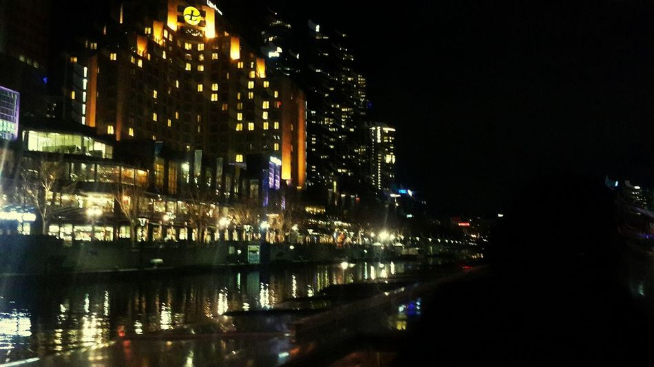 The evolutionaty instincts of man are appreciated sitting on a boat cruising through the yarra river. BoatParty Yarrariver Southbank Melbourne City City Lights