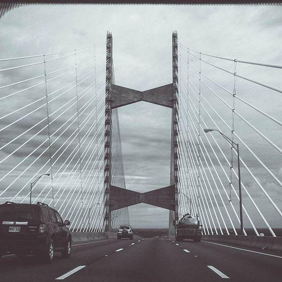 JacksonvilleFL Jacksonville Florida Blackandwhite Bridge
