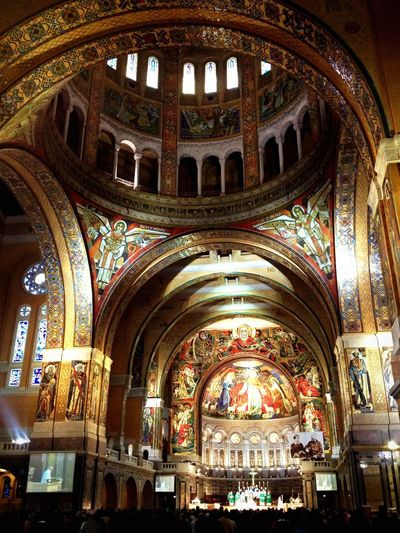 Mass, Lisieux Basilica Arch Place Of Worship Religion Architecture Spirituality Indoors  Day No People