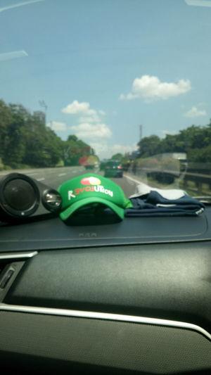 absurd Road Hat Car Speed Sky