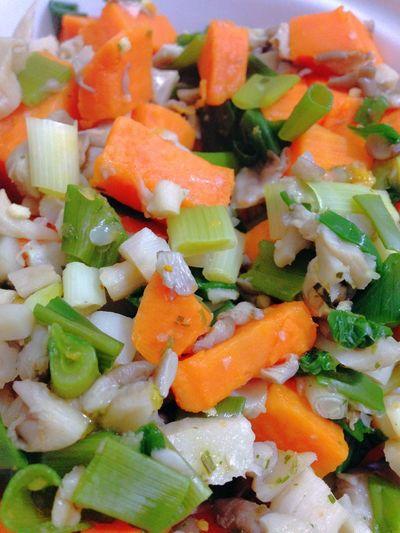 Sweet Potatoes Oyster Mushrooms Green Onion Healthy Food Vegetarian Food Vegan Food Vegetables 365 Photos In 2015 Dinner