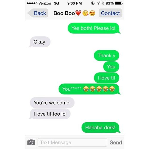 We love tit.❤️?? Haha Autocorrect Welovetit Whodoesnt oops lawl ourconvos ilovehim @vincent_luis