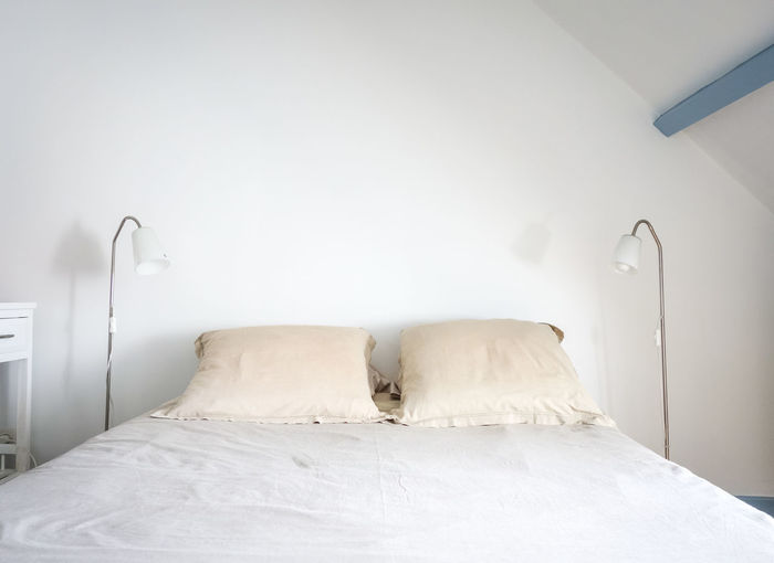 Empty bed at home