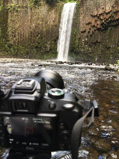 My Point Of View Taking Photos Hikingadventures Landscape_photography Oregonexplored Oregonlife Outdoor Photography Beauty Is In The Eye Of The Beholder Waterfall_collection Waterfall #water #landscape #nature #beautiful Waterfalls And Calming Views  Enjoying Life Longexposure The Essence Of Summer Focus On Background Nikond3300