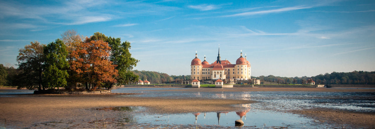 Architecture Autumn Burg Castle EyeEmNewHere Schloss Sky And Clouds Tree Architecture Building Building Exterior Clouds And Sky Day History Nature No People Outdoors Reflection See Sky Travel Destinations Tree Water Postcode Postcards