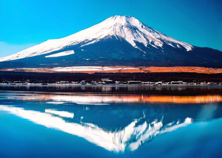 Mountain Scenics - Nature Water Beauty In Nature Winter Snow Tranquil Scene Cold Temperature Sky Blue Outdoors Reflection Lake Nature