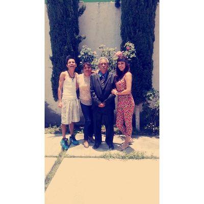 Con el abuelo mas lindo.... Festejo 81años Felicidad
