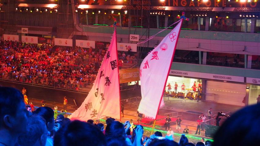 妆艺大游行 Chingay Parade 2017 Carnival Chingay Chingay2017 Colorful Colors Crowd Crowded Crowds Festival Festive LED Led Lights  Light Night Night Lights Outdoors Parade People Singapore Carnival Crowds And Details