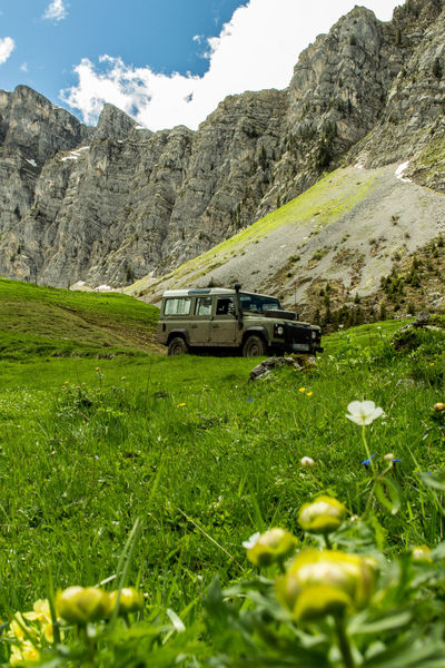 Swiss mountains with Defender #Defender #flowers #Mountain #Nature  #offroad #photography #SwissAlps Landscape Mountain Non-urban Scene Rock - Object First Eyeem Photo