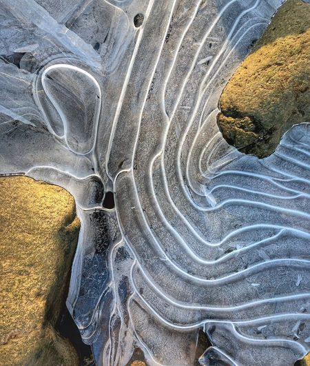 Ice pattern Cold Temperature ıce Nature Rock - Object Fossil Beauty In Nature Landscape No People Outdoors Close-up Day