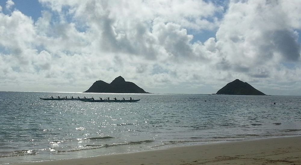 Goodmorning Aloha World On The Beach Lanikai Beach MokesPaddlers