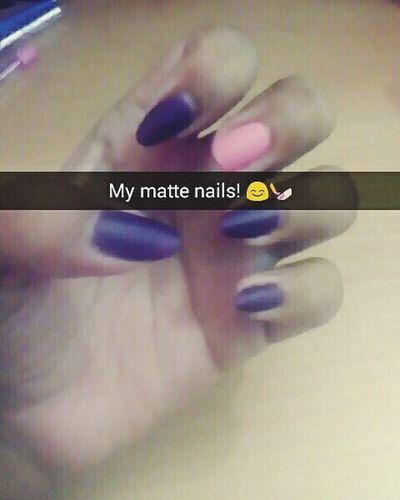 Matte Nailpolish💅 Mattnails Darkpurple Babypink My Obsession❤ Loveit♥ Nailpolishaddict Love My Nails ❤