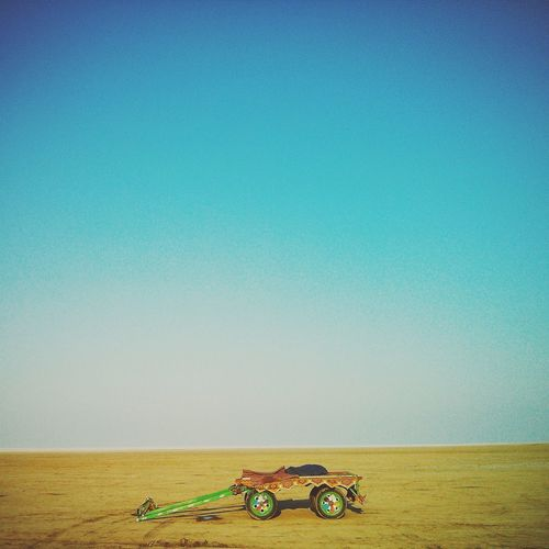 Stranded RannOfKutch Festival Unique Perspectives EyeEm Selects EyeEmNewHere Eye4photography  EyeEm Nature Lover Eyeemphotography Indian Minimalist Architecture Minimal Colorful Clear Sky Blue Water Beach Agriculture Sand Summer Sea Sky Calm Countryside Tractor Plowed Field