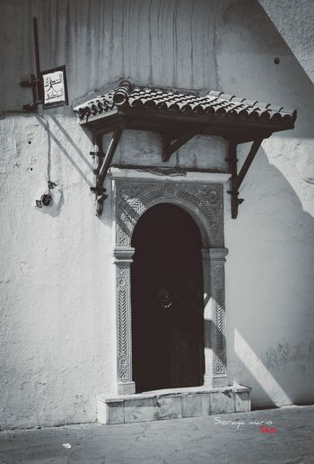 Architecture Arch Built Structure Door Entrance History Arched Closed Outdoors Archway Algeria Photography Alger Algerian Architecture Sidi_fredj Black And White Noir Et Blanc Photooftheday Photographylovers