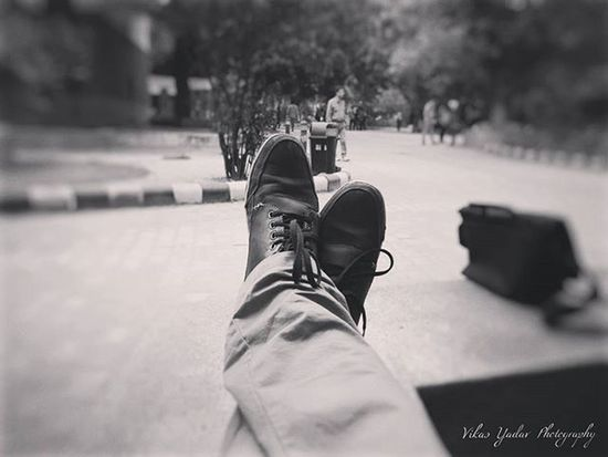 Sometimes you just need to seat back and enjoy the happiness encircled around you. Who knows what will happen Tomorrow ! Relaxed Happymoments Shoes Rain Delhi Dsediaries College Delhiuniversity Instagramhub Oneplusone