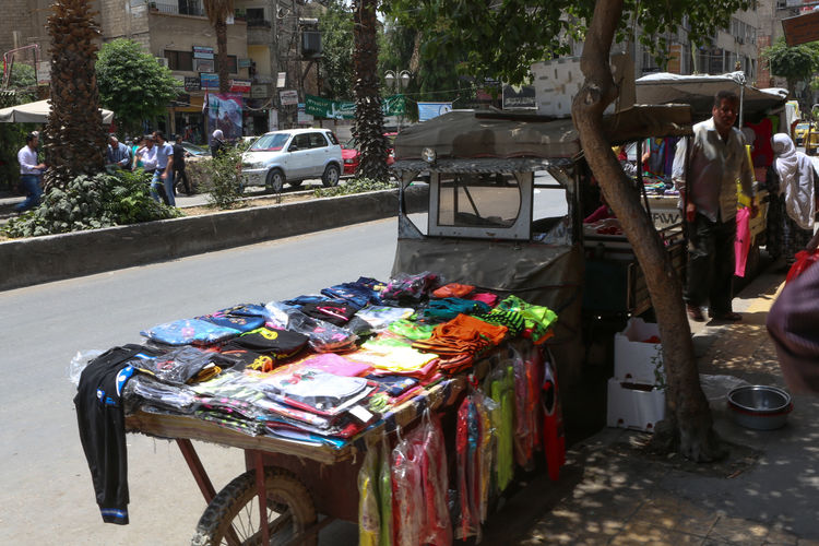 Multi colored for sale at street market