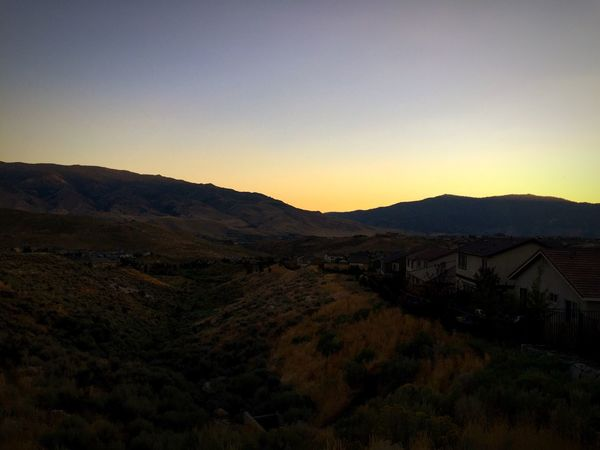 Sunset Nevada Reno Mountain Landscape Beauty In Nature Remote