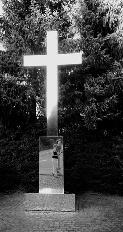 Art Streetphoto_bw Cross Mirror Monochrome Blackandwhite