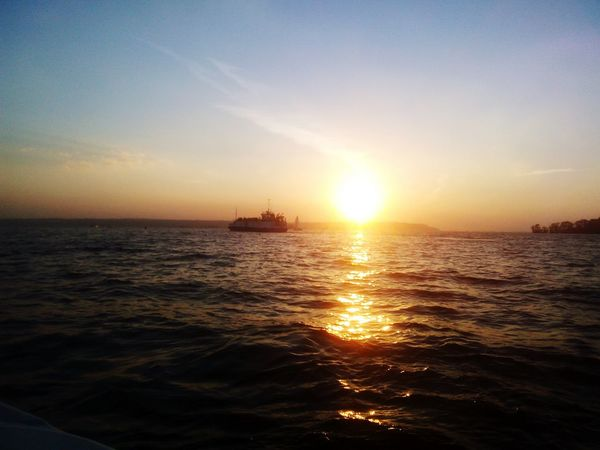 River Volga река Волга катер Закат Sun