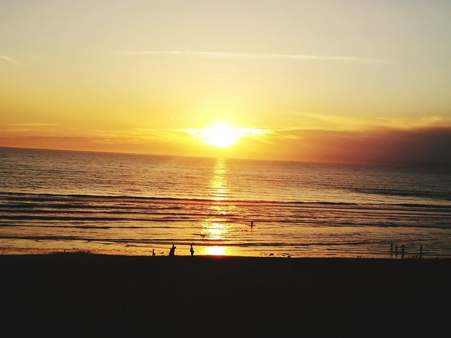 Sunset Sea Beach Sun Scenics Beauty In Nature Nature Silhouette Sunlight Orange Color Horizon Over Water Water Tranquility Tranquil Scene Sky Vacations Idyllic Sand Reflection Travel Destinations EyeEm Gallery EyeEm Nature Lover