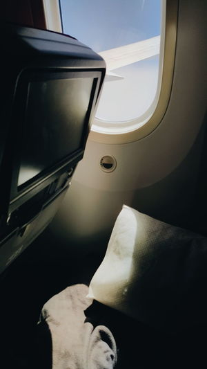 Airplane Transportation Travel Journey Flying Air Vehicle Window No People Commercial Airplane Vehicle Seat Day Airplane Seat Close-up Sky Traveling Travel Photography Traveladdict Window Seat Window Seat Airplane Wing