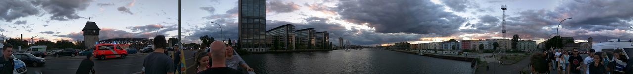 Panoramic Photography Elsenbrücke Berlin Mitte Art Gewitterwolke Thunderstorm Cluods And Sky Cloudporn