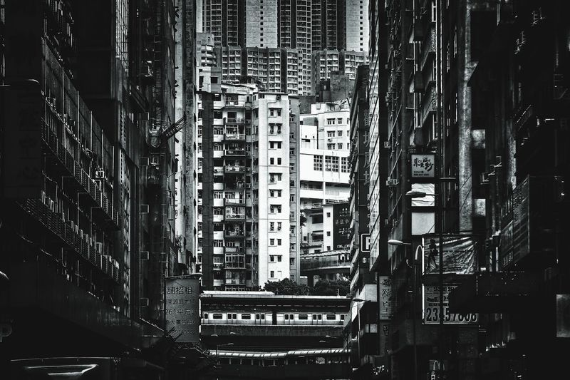 Crossovers HongKong Nostalgia Bnw Blackandwhite Monochrome Vintage Style Old Street Hong Kong Hong Kong Architecture Urban Streetphotography Communication Close-up Architecture Pixelated Office Building High Rise Tower Urban Scene Settlement Full Frame Non-western Script Skyline
