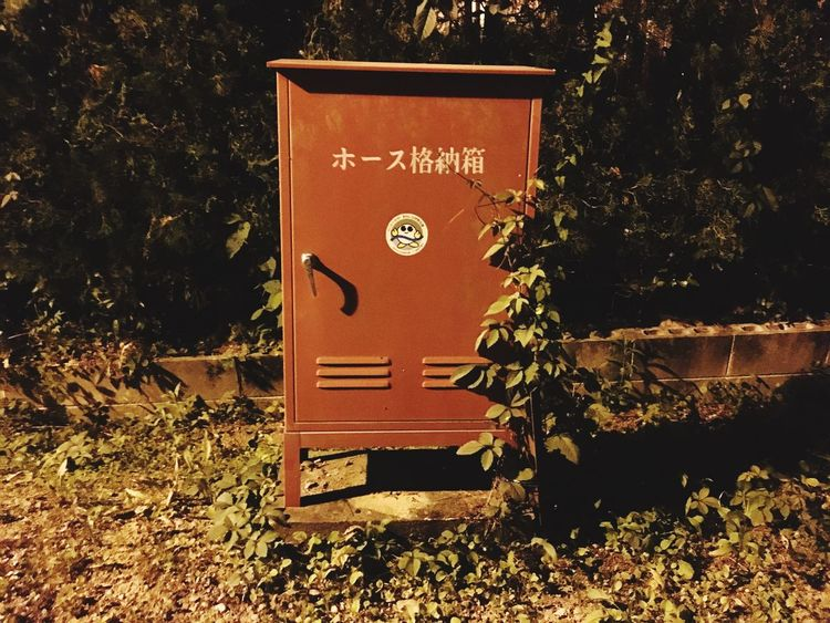 Firehose Night Island Life Old Rust Way Back Home 帰り道 ホース格納庫 錆 Tomの見た世界 IPhoneography Leaf Orange Light The Scenery That Tom Saw