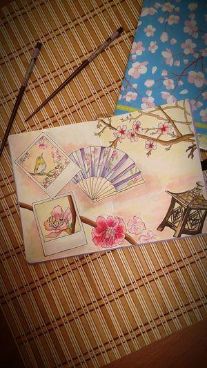 сакура Draw Sketch My фонарь